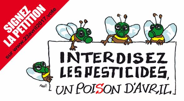 86% des Français pour une interdiction des                                                         pesticides, un                                                         poiSon d'avril                                                         !
